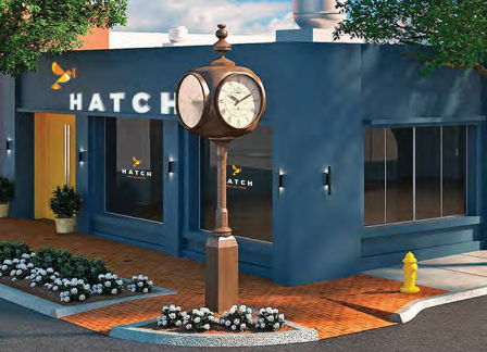 A rendering depicts the soon-to-open Hatch at 286 Main St., Huntington.