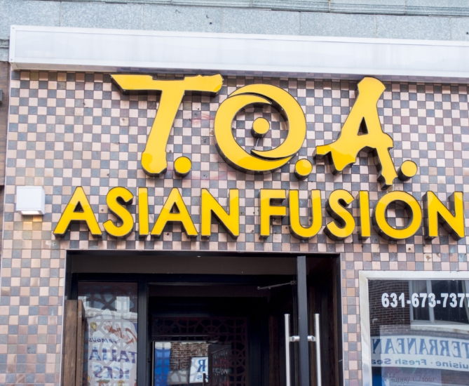 T.O.A. Asian Fusion is located at 369 New York Ave. in the heart of Huntington village.