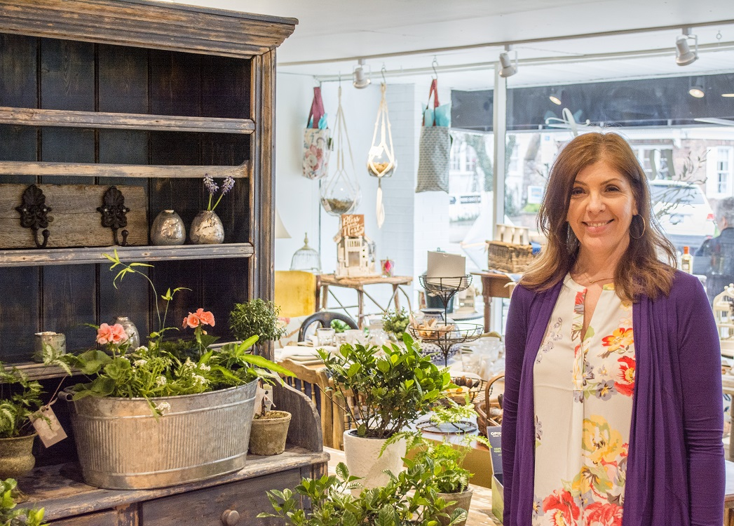 Donna Moschella, above, opened Nest on Main at 135 Main St. in Northport six months ago.   (Long Islander News photos/Connor Beach)