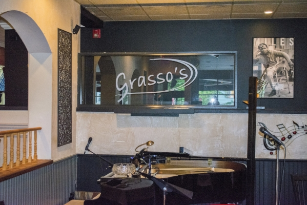 The performance area at Grasso's, which is located at 134 Main St., Cold Spring Harbor.
