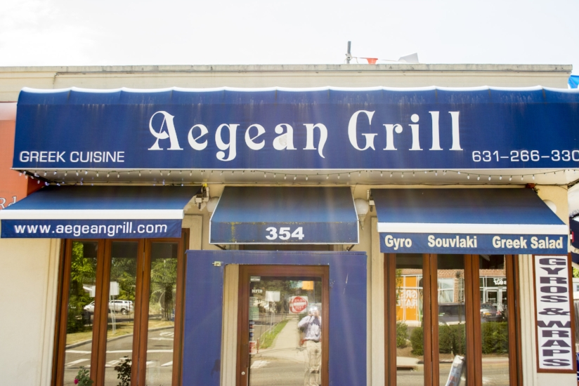 Aegean Grill is located at 354 Larkfield Road, East Northport.   (Long Islander News photos/Connor Beach)