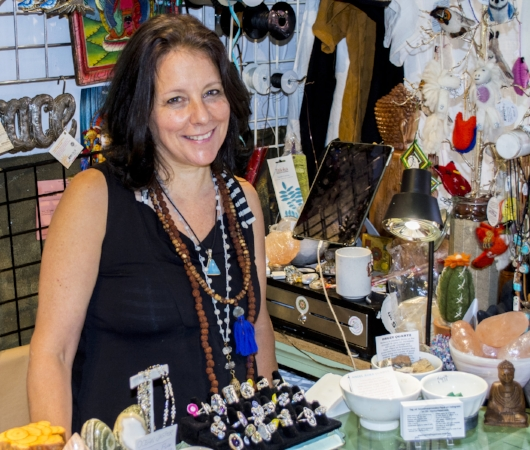 Owner Trudy Pellegrino opened Henna Happiness on East Carver Street in Huntington in 2008, and has over 20 years of experience with henna art.   (Long Islander News photo/Connor Beach)