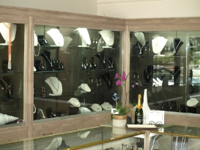 The showroom at Harborview Jewelers.   Long Islander photo/Connor Beach