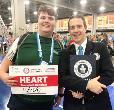 Heart transplant recipient Christian Siems, left, traveled to Salt Lake City, Utah during the first week of August to compete in the 2018 Transplant Games of America.   Photos courtesy of Michele Martines