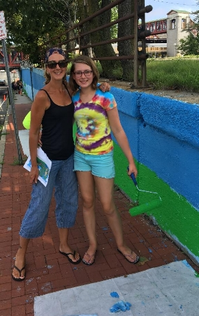 Volunteers who worked on the mural will know they left their mark on Huntington when they pass by.