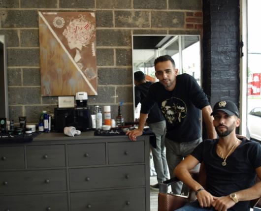 Brothers Adir and Ben Aharon are bringing a high-end barbershop to their established salon in Huntington village.  Long Islander News photo/Sophia Ricco