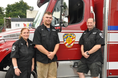 Fast action from Melville Rescue Squad EMT Sue Rao, Melville Firefighter Dave Schneider, and Melville Firefighter and EMS Dr. David Kugler, helped save the life of a choking baby.