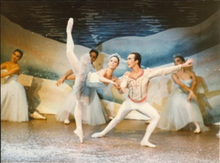 """Marnie Gershowitz dances with James Garland in the 1987 production of """"The Nutcracker."""""""