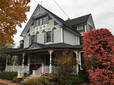 The Samuel Ashley Stevens House is a stop on Huntington Historical Society's Holiday House Tour. In the early 20th century, the home was occupied by a Huntington Village merchant, his wife and three daughters.