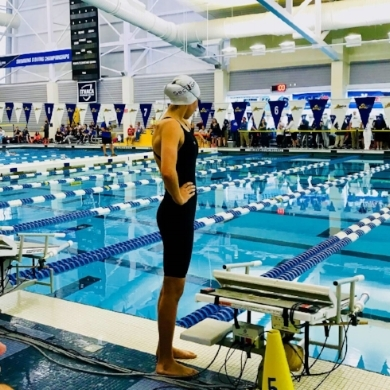 Northport High School junior Chloe Stepanek swam to gold in the 100M and 200M freestyle events at the NYS championships.