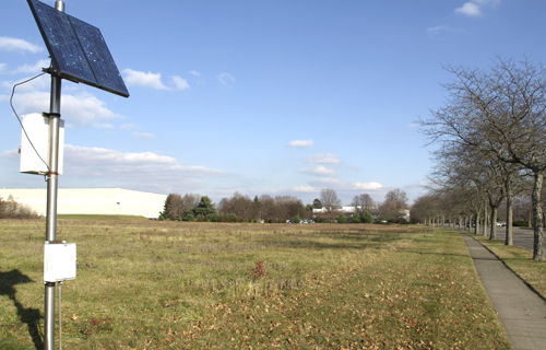 Multinational cosmetics giant Estee Lauder plans to construct a four-acre solar farm behind the company's corporate building at Pinelawn and Corporate Center drives in Melville.  Long Islander News photo/Connor Beach