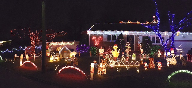 The third place-winning display at the Amodeo family home at 64 Oakly Drive, Huntington Station.   Town of Huntington photo/Doug Martines