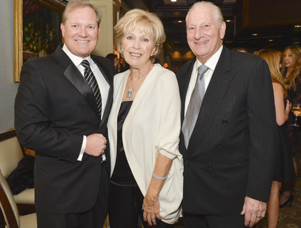 Among guests who learned about the hospital's programs and leaders, from left, are: William Healy, Jr., Caroline Monti-Saladino, and Arthur Saladino.