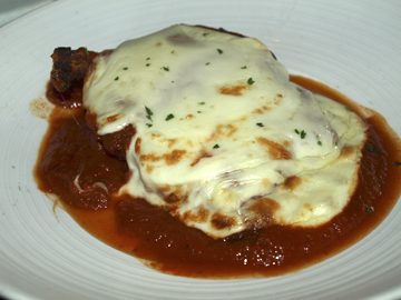 Chicken chop parmigiana… a classic take on a classic dish.