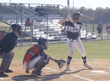 Matt Polestino prepares himself at the plate.  Photos courtesy Matthew Rocchio