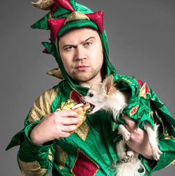 John van der Put, better known as Piff the Magic Dragon, will be joined on stage at The Paramount on April 20 by his rescue Chihuahua Mr. Piffles.