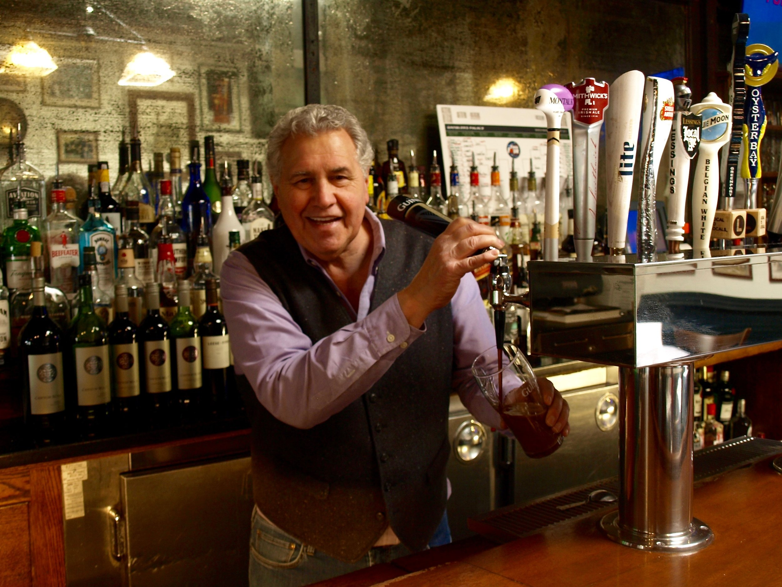 Always ready with a beer and a smile from behind the bar, manager Tommy Forte is the face of Finnegan's.