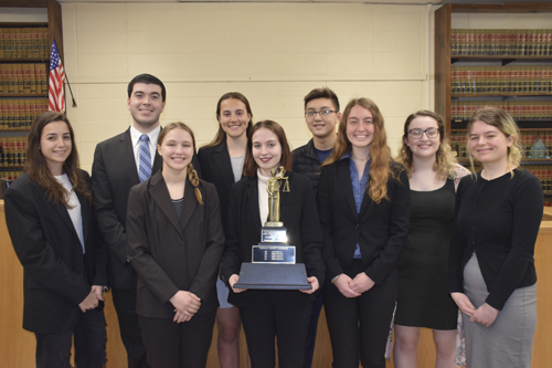 Northport High School's Mock Trial team won the Suffolk County Champions on April 3 and will be heading to the State Championships in May.