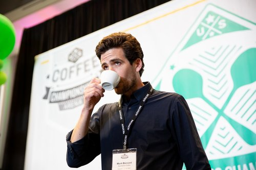 Mark Boccard roasted his way to a third place trophy atteh U.S. Coffee Championships.