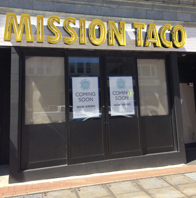 Mission Taco is set to open at 371 New York Avenue in Huntington village. The building was formerly home to Acacia.