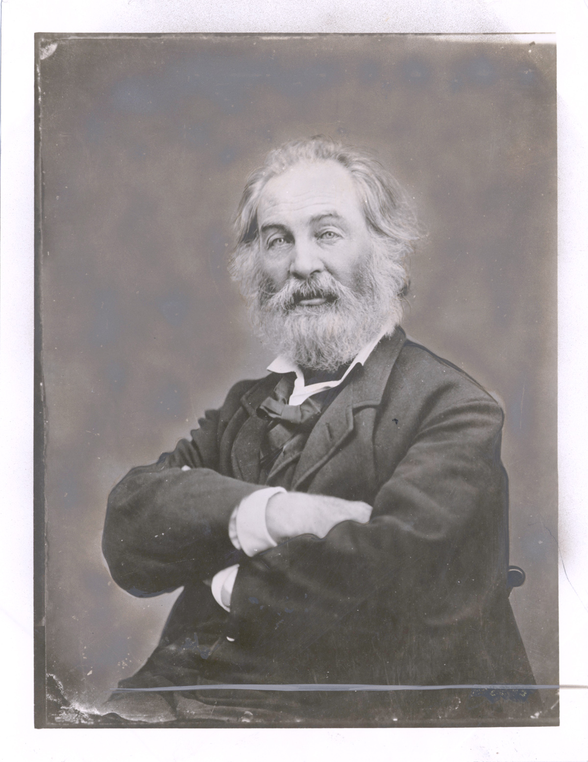 Walt Whitman, ca. 1865, in an image captured by famed Civil War photographer Matthew Brady   NYPL Photography Collection, Astor, Lenox and Tilden Foundations