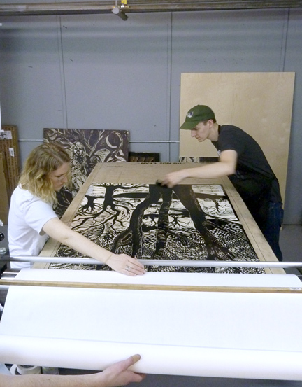 Castonguay and his partner Carand Burnet founded Big Ink to enable printmakers to work on a large scale.