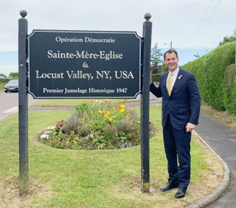 "Sainte-Mere-Eglise's relationship with Locust Valley.sparked the ""sister city"" movement."