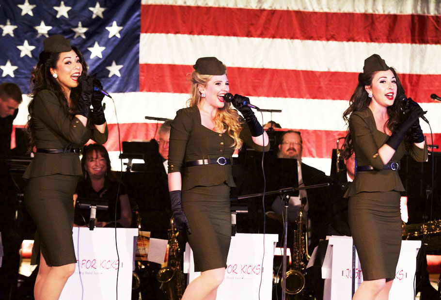 The American Bombshells perform an Andrews Sisters-style of patriotic music