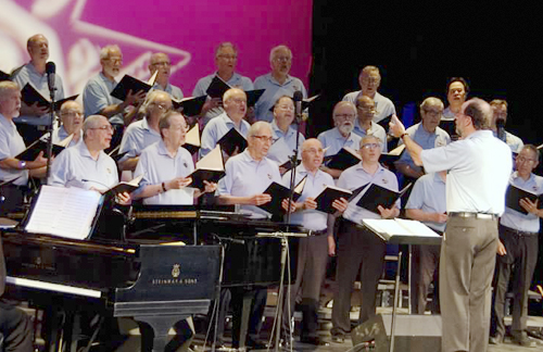 Huntington Men's Chorus sings June 27.  Photo by Greg Catalano
