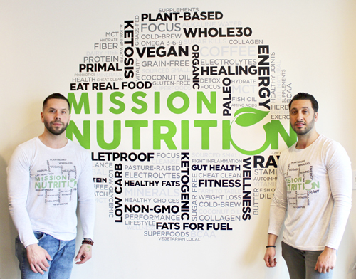 Brothers Anthony and Chris Giordano founded Mission Nutrition to share their passion for healthy eating.