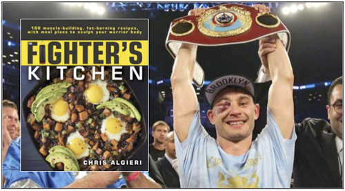 "Huntington boxer Chris Algieri speaks about and signs copies of his new book ""The Fighter's Kitchen"" Thursday, June 27 at Book Revue in Huntington."