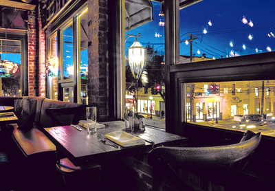 Lale night dining at Crabtree's in Huntington includes a bird's eye view of the action on the street.