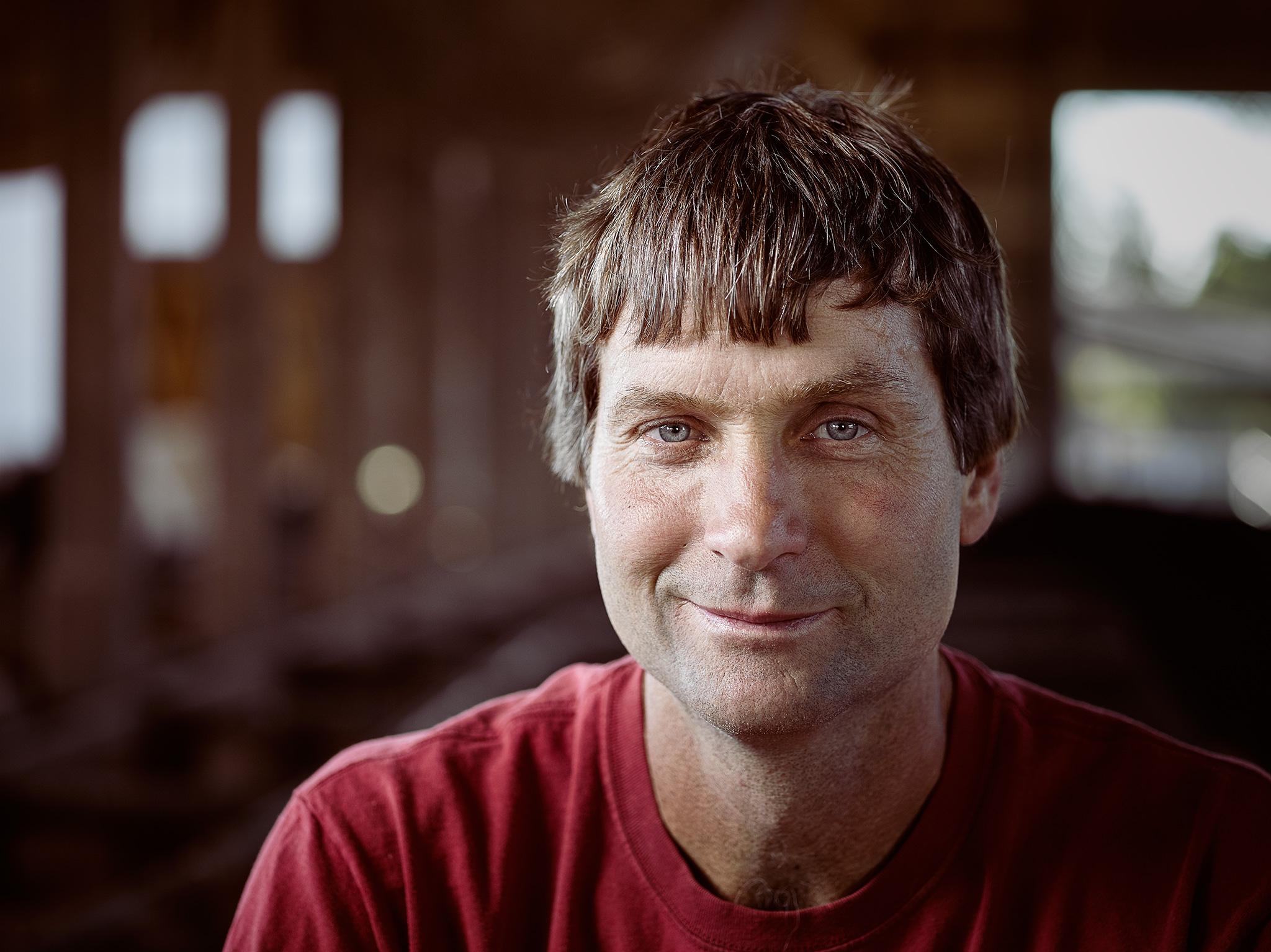 a portrait of a dairy farmer