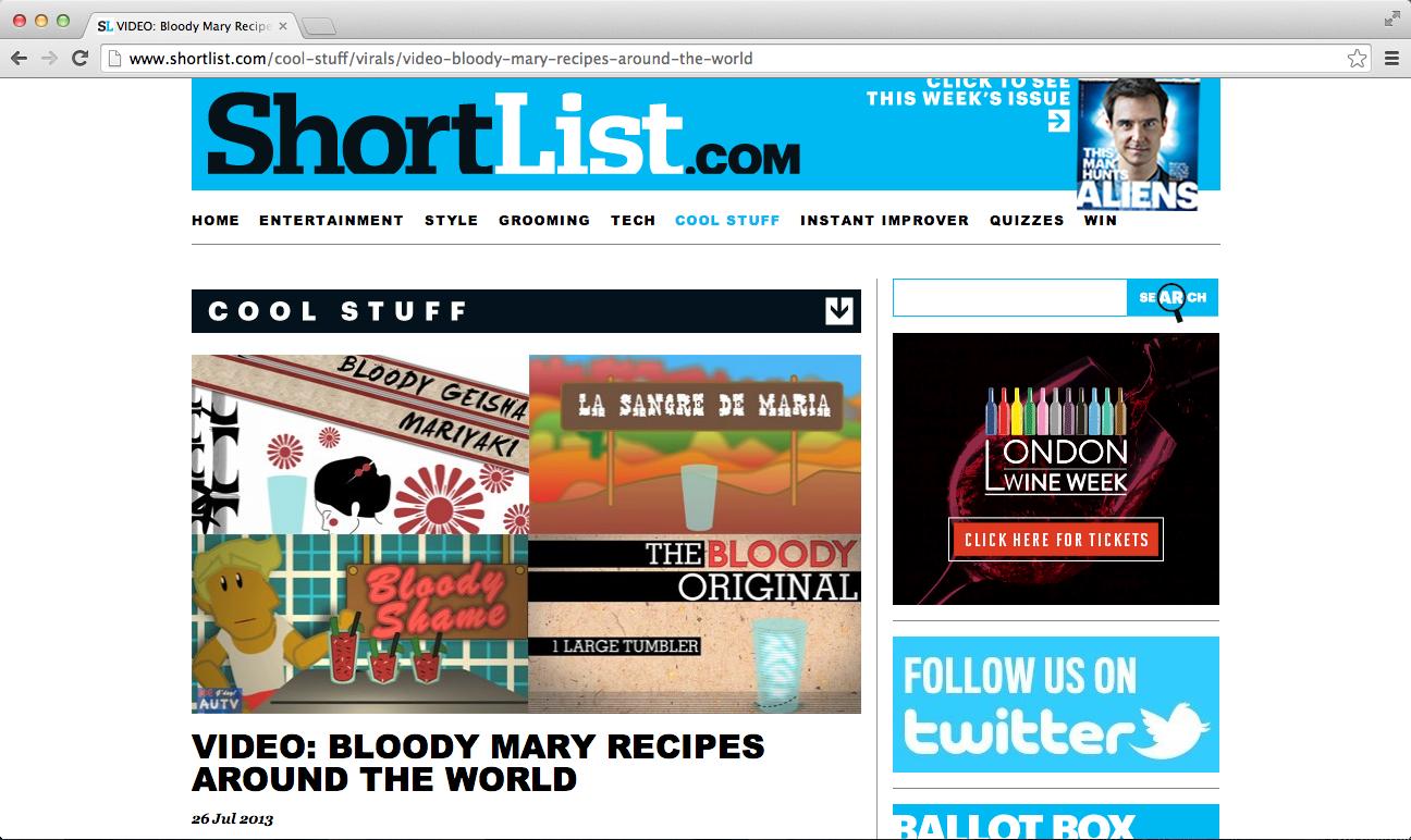 Bloody Lot of Alternatives -Shortlist
