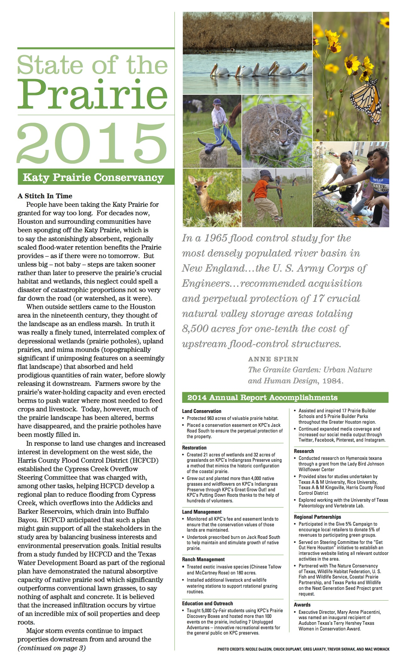Click the Image to see the rest of the 2015 state of the prairie