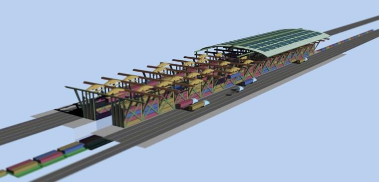 Artist rendering of an Inland Feeder Terminal.