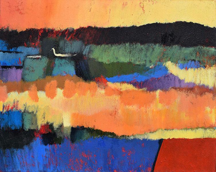 Those Hills. Acrylic on Canvas. 24x30