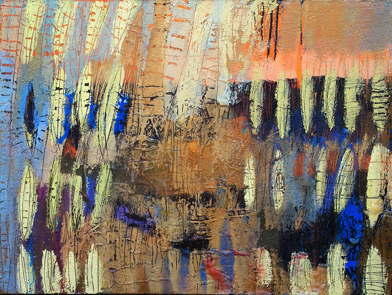Reflections 10. Mixed Media on Canvas. 30x40