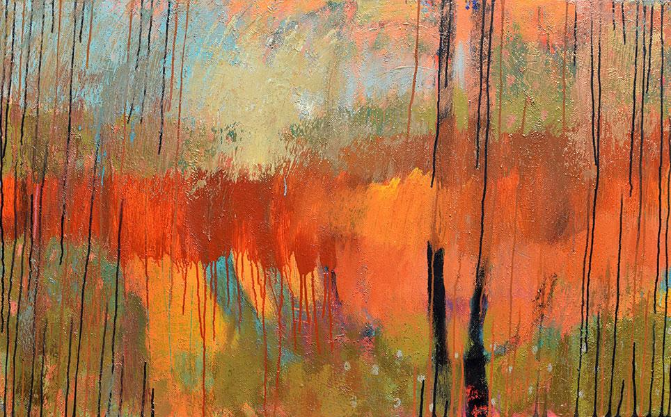 Don't Rain 4. Acrylic on Canvas. 30x48