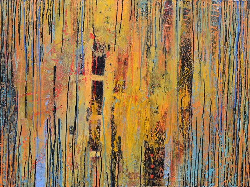 Don't Rain 3. Mixed Media on Canvas. 30x40