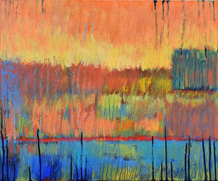 Reflections 9. Acrylic on Canvas. 20x24