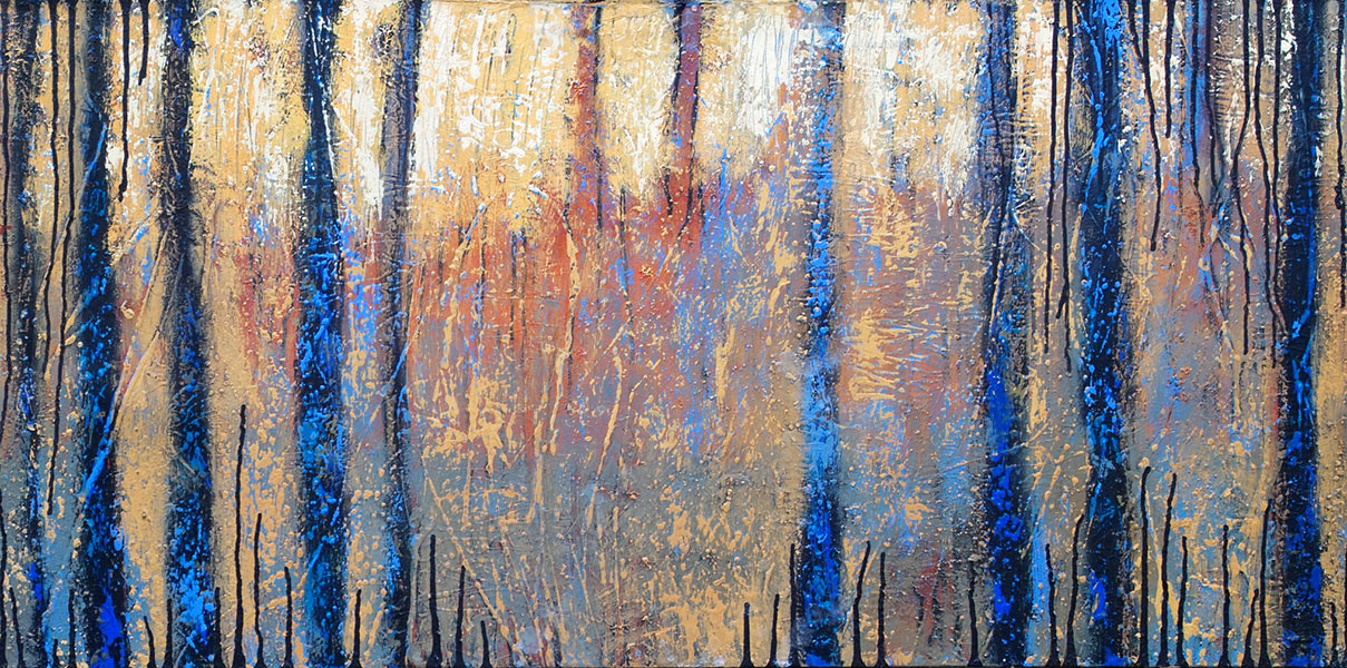 That Forest 7. Acrylic on Canvas. 24x48