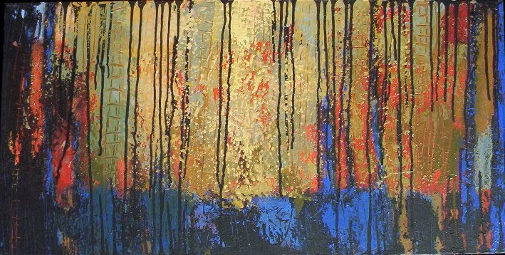 That Forest 6. Acrylic on Canvas. 18x36