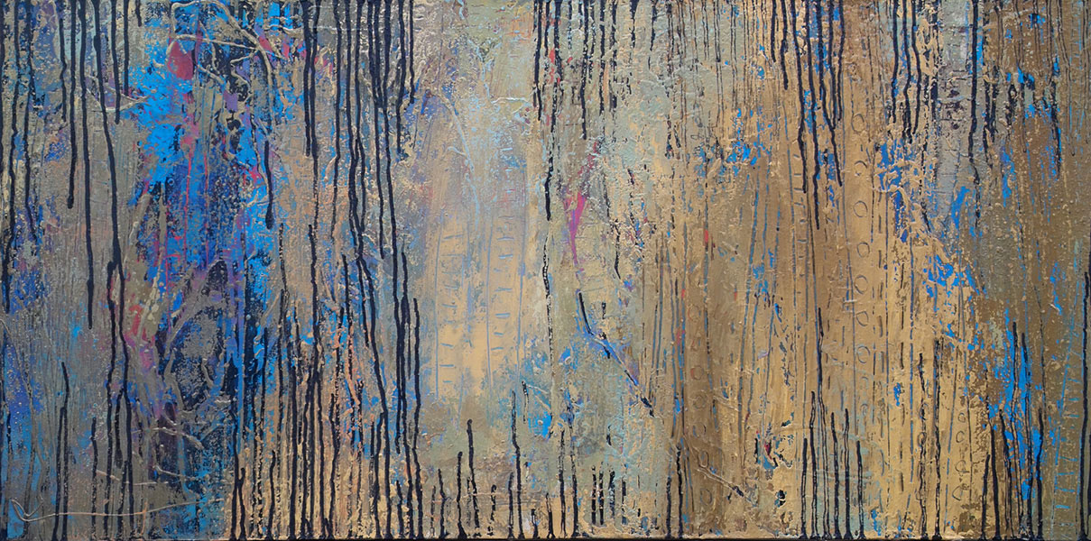 That Forest 10. Mixed Media on Canvas. 24x48