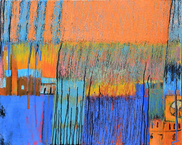 Reflections 5. Acrylic on Canvas. 24x30