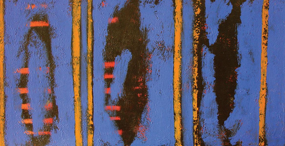 Summer Blues 2. Acrylic on Canvas. 18x36