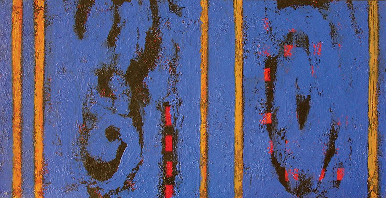 Summer Blues 1. Acrylic on Canvas. 18x36