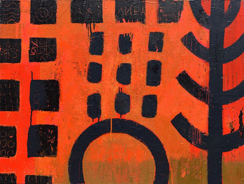 Mexico 1. Mixed Media on Canvas. 30x40