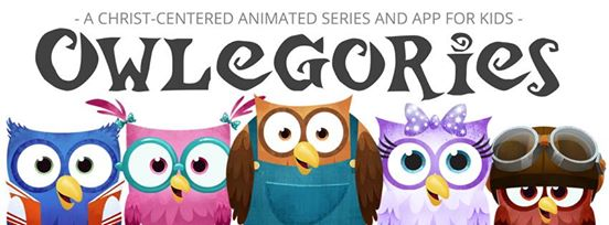 The Nourished Mama's review of Owlegories, a new Christ-centered animated series and app for kids.
