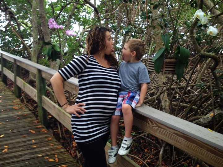 """Jackson and I goofing off last spring on a spur of the moment """"Girls + Jackson"""" trip to Little Gasparilla Island."""